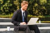 Working outdoors — Stock Photo