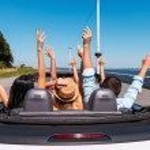 People enjoying road trip — Stock Photo #53837931