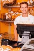 Confident cashier — Stock Photo