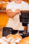 Cashier at work — Stock Photo
