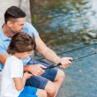 Father and son fishing — Stock Photo #54244459