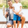 Father and son fishing — Stock Photo #54244631