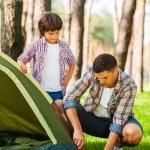 Learning basics of camping — Stock Photo #54244673