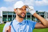 Confident golfer — Stock Photo