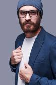 Bearded man in smart casual wear — Stock Photo
