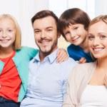 Happy family of four — Stock Photo #54986233