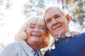 Senior couple bonding to each other — Stockfoto
