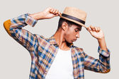 Handsome young Afro-American hipster — Stock Photo