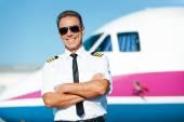Pilota fiducioso. — Foto Stock