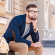 Young man waiting for his girlfriend. — Stock Photo #56013385