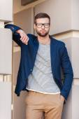 Handsome young man in smart jacket — Stock Photo