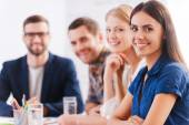 Group of confident business people — Stock Photo