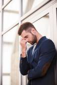 Frustrated young man — Stock Photo