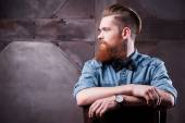 Handsome young bearded man — Stock Photo