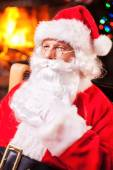 Thoughtful Santa Claus — Stock Photo