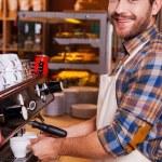 Barista making coffee — Stock Photo #58694011