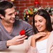 Man making a proposal on Christmas — Stock Photo #59294643