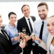 Business people toasting with champagne — Stock Photo #59814559