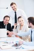 Confident businessmen handshaking — Stock Photo