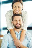 Loving couple bonding to each — Stock Photo