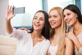 Women making selfie — Stock Photo