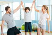 Father and mother having fun with son — Stock Photo