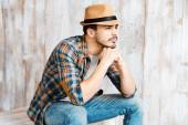 Handsome young man wearing hat — Stock Photo