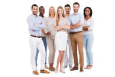 Multi-ethnic group of people in smart wear — Stock Photo
