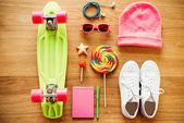 Personal accessories for teenage girls — Stock Photo