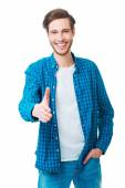Man stretching out hand for shaking — Stock Photo