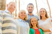 Happy family of five people — Stock Photo