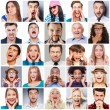 Collage of people expressing different emotions — Stock Photo #76234429