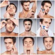 Handsome young man grooming — Stock Photo #76789275