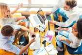 Young people working in office — Stock Photo