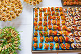 Food specialties  for event — Stock Photo