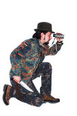 Male hunter looking for pray — Stock Photo