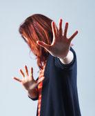 Frau verteidigen — Stockfoto