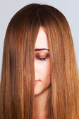 Long haired woman — Stock Photo