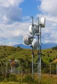 Small telecommunication tower — Stock Photo