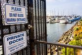 Private docks entrance — Stock Photo