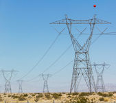 Electricity power constructions — Stock Photo
