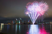 San Diego 4th of July fireworks — Stock Photo