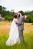 Hipster Bride and Groom Portrait — Stock Photo