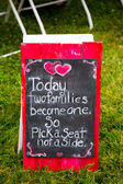 Wedding Decoration Ceremony Sign — Stockfoto