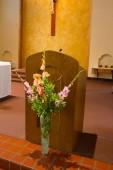 Catholic Pulpit at Church — Stock Photo