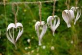 Handmade DIY Paper Hearts — Stock Photo