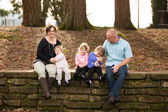 Family of Five People — Fotografia Stock