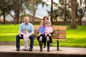 Family of Five People — Stock Photo
