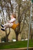 One Year Old on Swings — Stock Photo