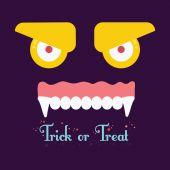Trick or tread. Vector Illustration of Halloween background. — Stock Vector